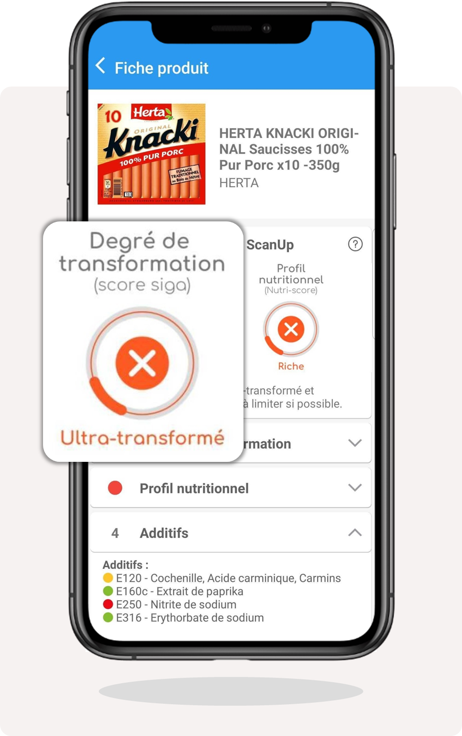 application, scan, produit, scanup, siga, nova, degre, transformation, transforme, ultra-transforme