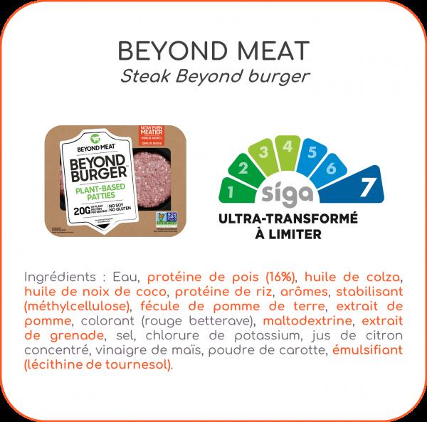 beyond, meat, burger, alternative, végétale, steak, végétal, application, scanup, degré de transformation, transformation, scan, scan de produits