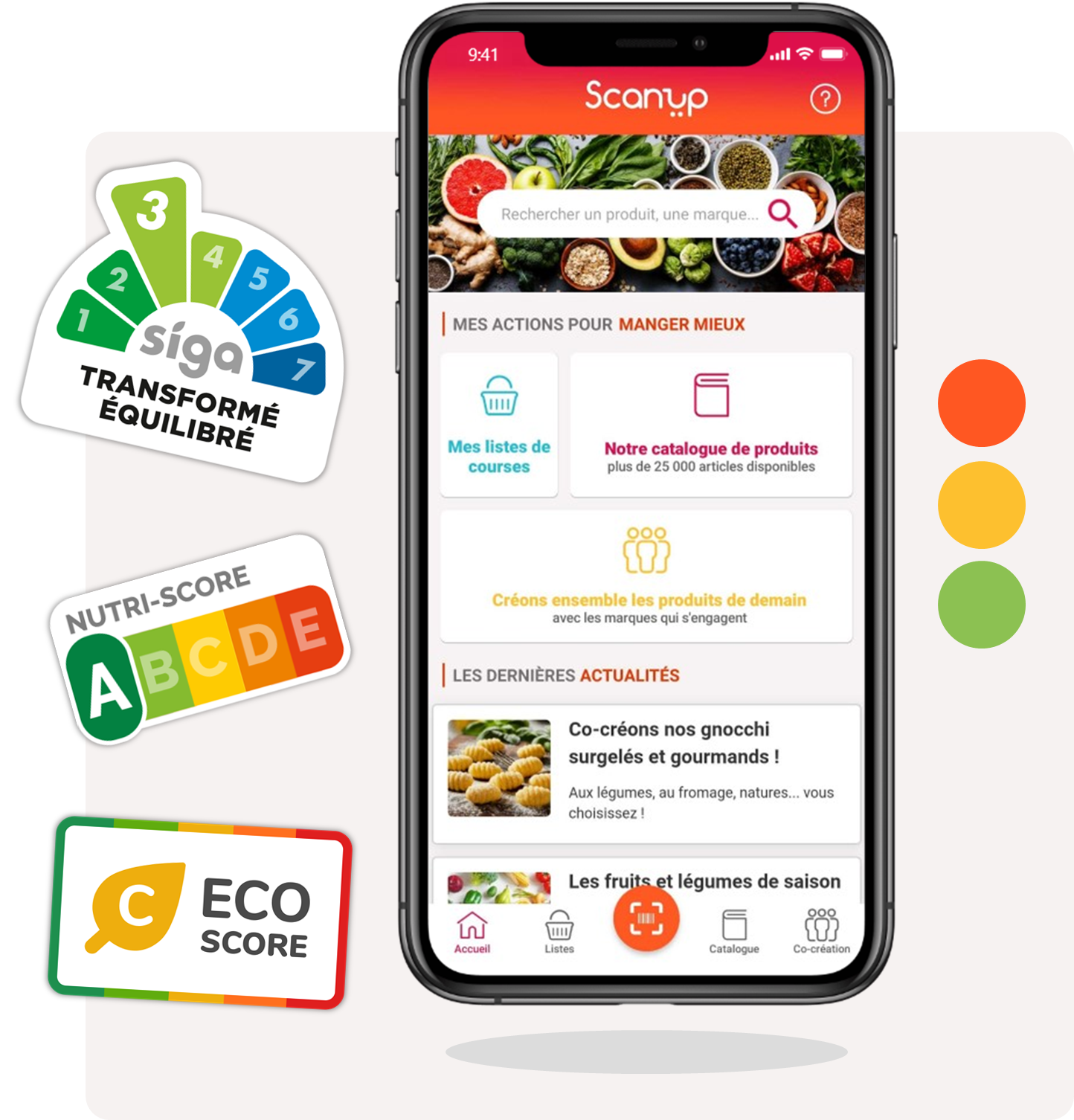 scanup, eco-score, nutri-score, transformation, produits, alimentaire, application, scan